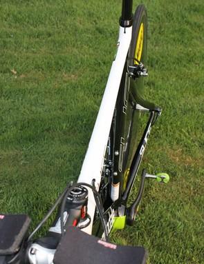 Cannondale run an especially slender level top tube on their Slice aero frame.