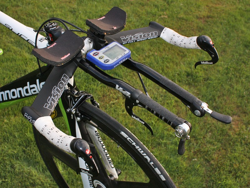 Basso has switched from straight extensions to 'S-bend' extensions since the Tour of California.