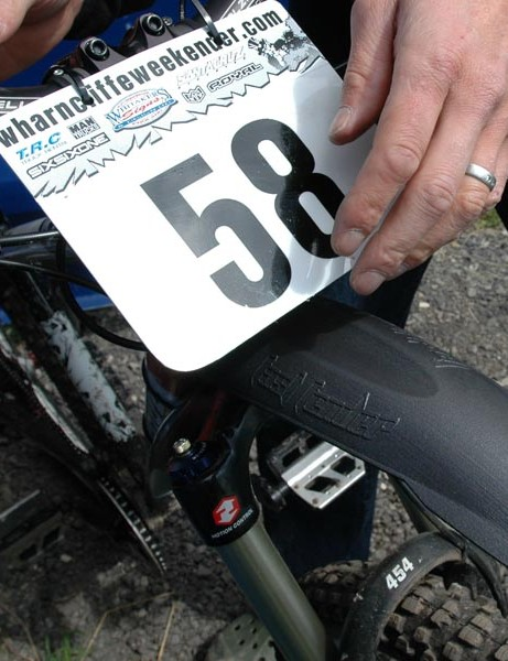 The Fast Fender is handlebar-mounted