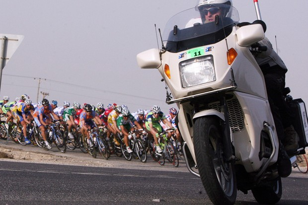 A motorcyclist involved with the Giro d'Italia was killed en route to the race on Tuesday