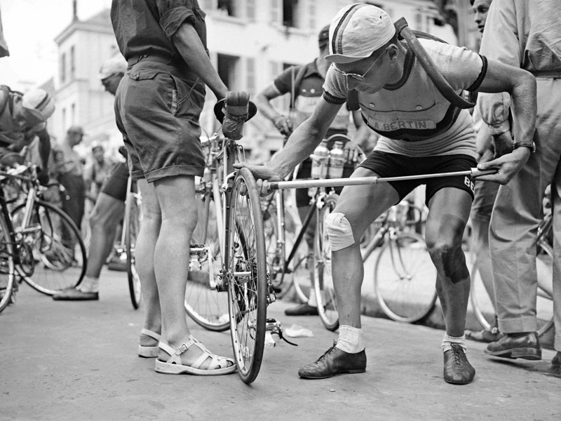 Punctures were a common sight during the Etape Caledonia