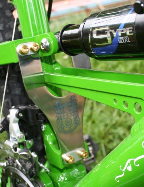 MacMahone Lionheart titanium plate adds frame stiffness