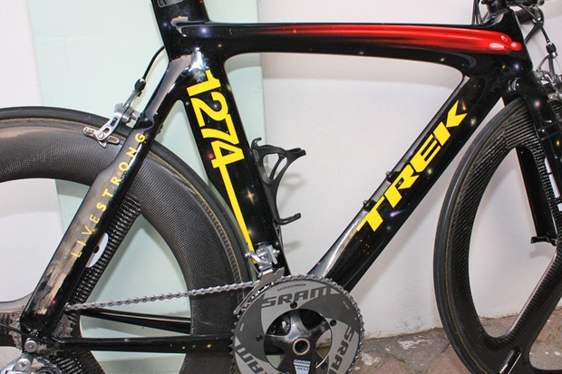 Custom painted bikes have become the norm for Armstrong in 2009.