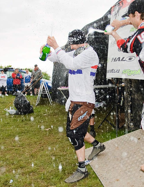 Spraying champers all over your fellow competitors on the podium is a must