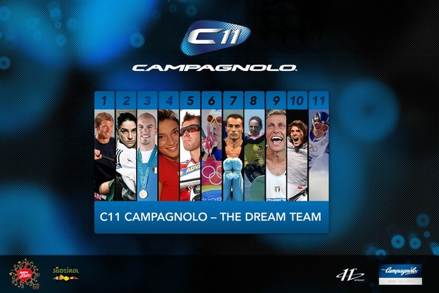 The complete Campagnolo C11 Dream Team.