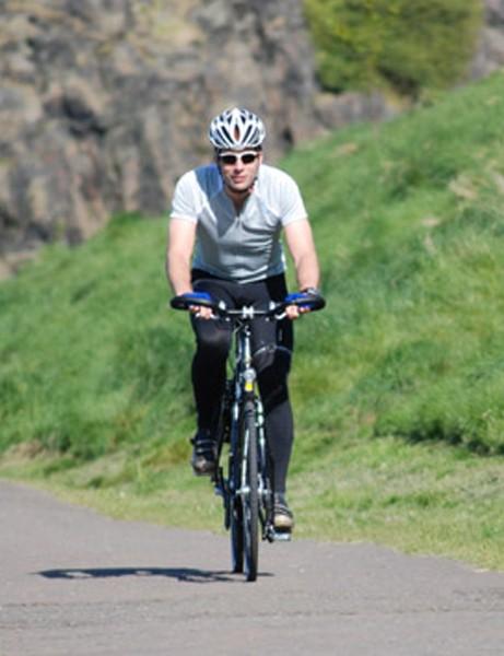 Mark Beaumont training in Edinburgh, Scotland earlier this year