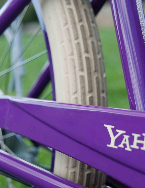 Yahoo! Purple Pedals bike.