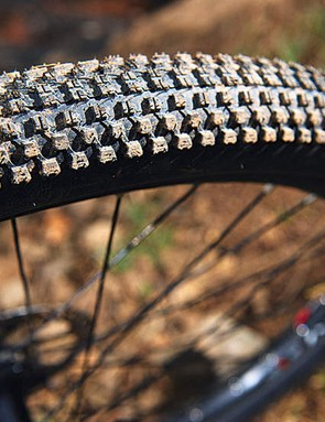 The more we've ridden Kenda's Small Block 8 rubber the more we're astonished by how much grip this micro-tread tyre can fi nd in mixed conditions throughout the year.
