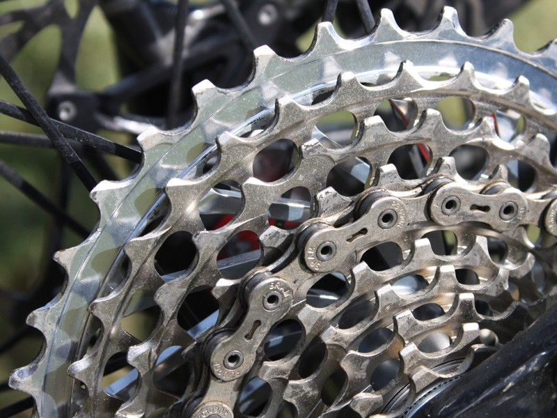 The new X-Glide tooth profiles are substantially quieter than before and shift far more smoothly than anything we've yet seen from SRAM