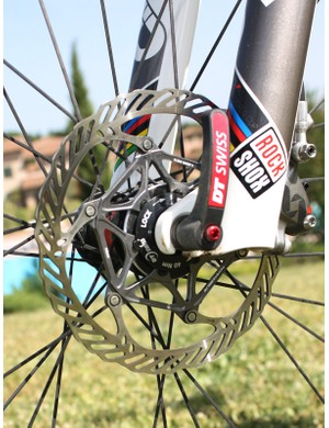 A new two-piece rotor uses a stainless steel brake track for predictable performance but an aluminium carrier for reduced weight