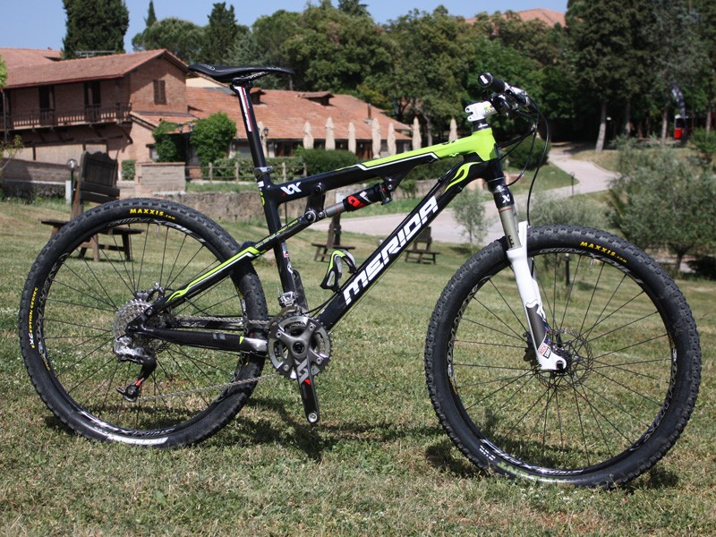 Our test bike for the launch was a Merida Ninety-Six - a lightning-quick race steed that was still fun to ride on more challenging trails