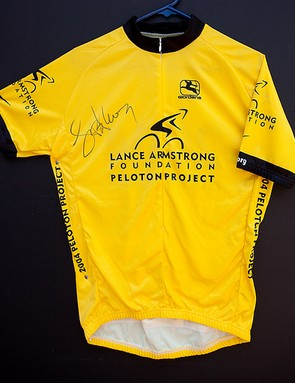The Armstrong autographed jersey being rafled in Donnington this weekend.