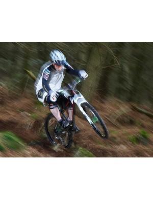 Will Longden pinning the trail