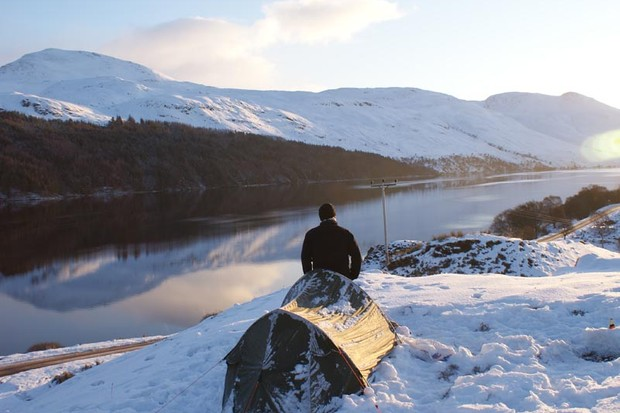 The morning after camping at -15 in the Scottish Highlands