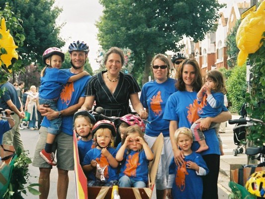 Richmond MP Susan Kramer with members of Pedal Power for Parents