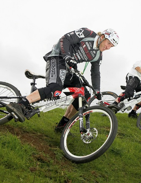 Steve Peat, left, will be racing in the MBUK Eliminator, on a course designed by Will Longden, right