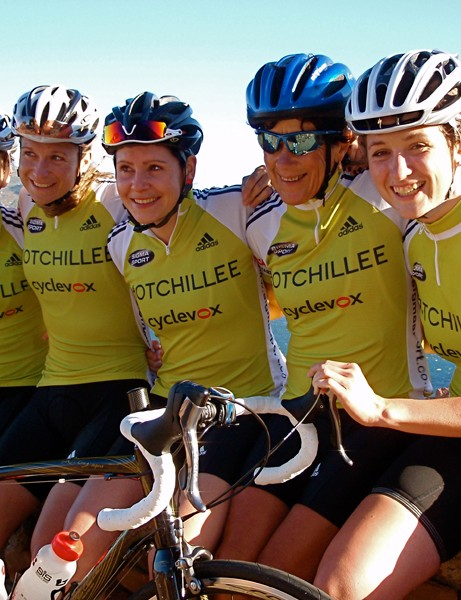 The HotChillee Challenge Team:  (L-R) Alice Monger-Godfrey, Tanja Slater, Nikki Harris, Penny Krohn and Emma Davies