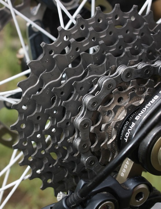 Trek have opted for an 11-32T cassette  to shave a few grams but an 11-34T would provide extra range given the relatively tight 29/42T chainrings.