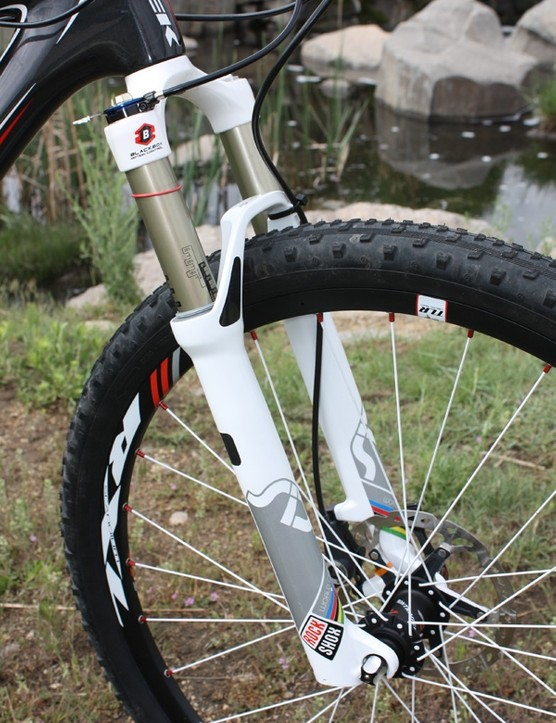 Front suspension duties are handled  by RockShox' top-end SID World Cup with 100mm of travel.