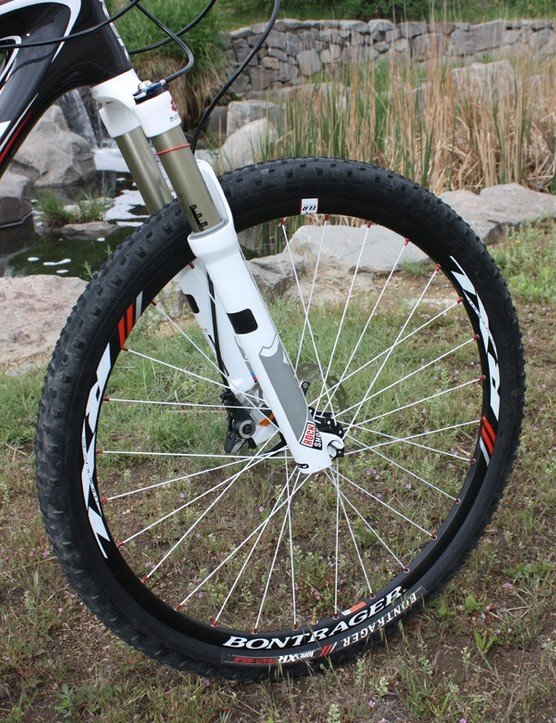 The lightweight rolling stock includes scandium rims and narrow tires that spin up remarkably quickly.