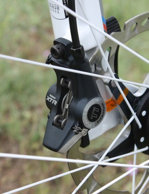 The latest edition of Shimano's XTR hydraulic disc brakes  are their best-feeling yet with none of the sticky piston issues that occasionally plagued earlier iterations.