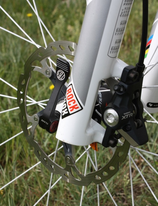 Our Top Fuel 9.9 SSL came with a 160mm rotor up front…