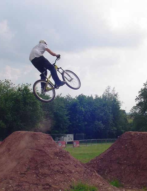 The dirt jumps get higher and higher