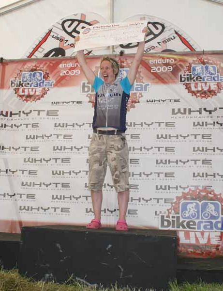 Women's solo 12 hour winner Jane Chadwick