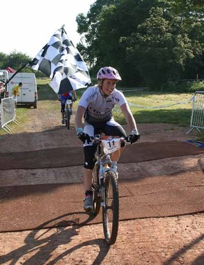 Jane Faulkner finishes her ride at last