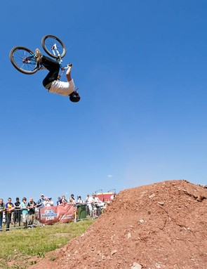 Sam Reynolds spent a lot of time upside down in pursuit of the win.
