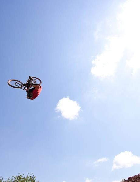 Jamie Goldman front flip 3