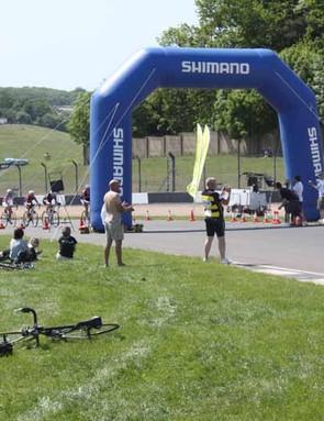 The start/finish area