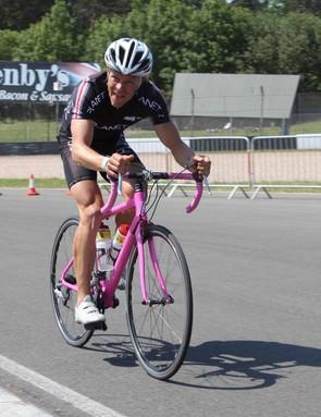 Pro triathlete Luke Dragetra finished third