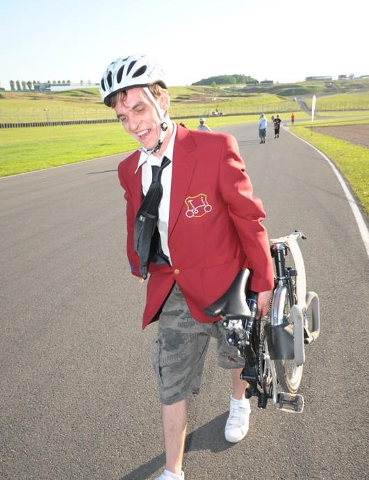A novice finisher from the Bormpton team