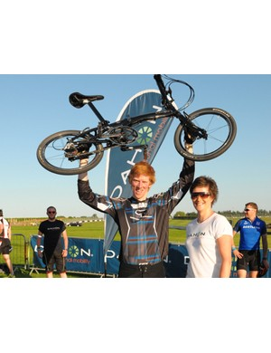 Seasoned commuter winner James Norton with his steed, a Dahon Mu EX