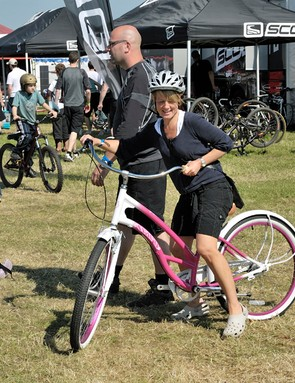 There were plenty of different styles of bikes for people to try out