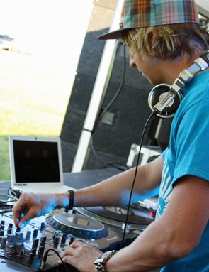 MBUK's Doddy on the decks at the Scott Sunset Sessions tent