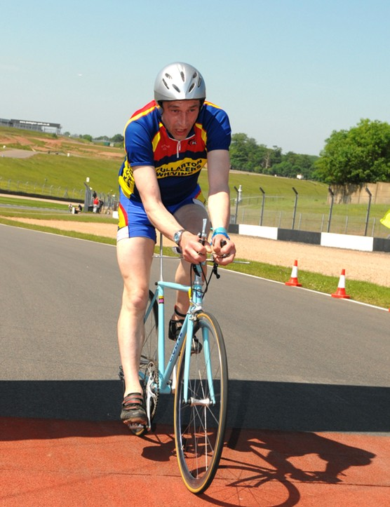 Obree was spent at the finish