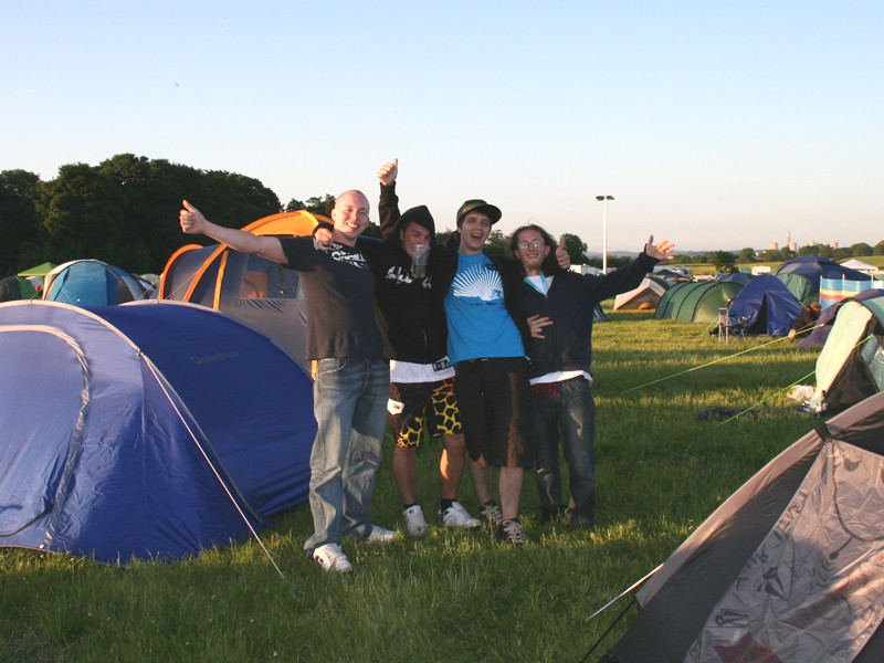 There was plenty of partying going on in the main campsite