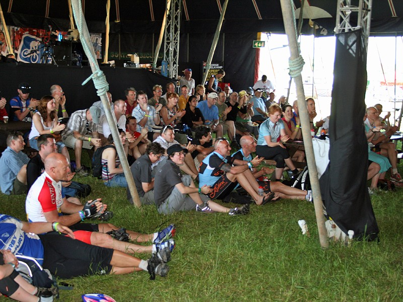 A series of talks and films kept visitors entertained in the Big Top
