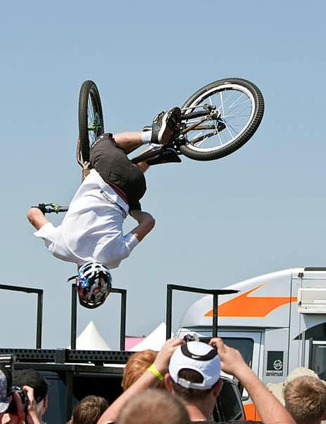 Danny MacAskill thrilled the crowds at BikeRadar Live