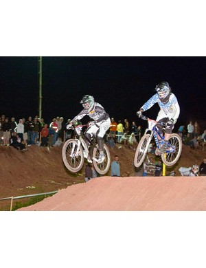 A big crowd watched the dual slalom finals
