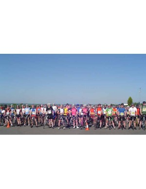 The start line for the Cycling Plus Sportive