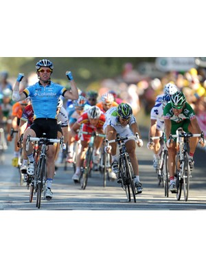 Cavendish snags his fourth stage victory of the 2008 Tour de France.