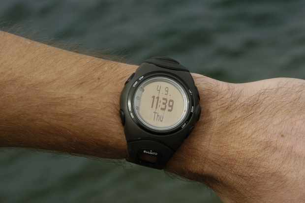 Conveniently, the Suunto t6c can also be used as a wristwatch for other activities.