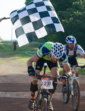 Battling it out at the finish