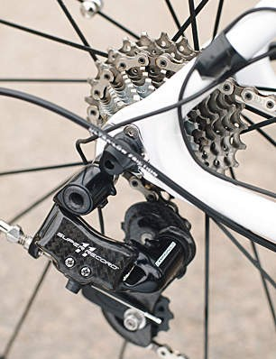 shift action is noticeably lighter than the old Record 10-speed shifters, without losing that satisfying Campag  click