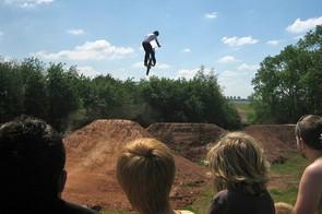The dirt jumps were a popular attraction at BikeRadar Live
