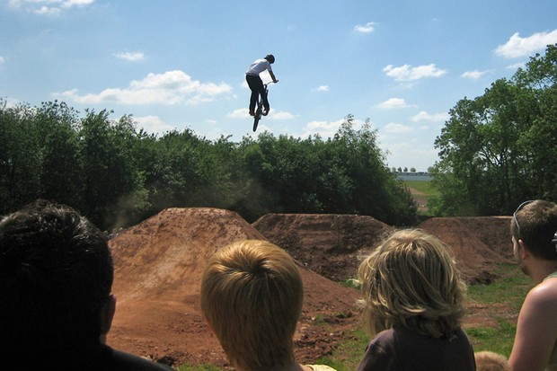 The dirt jumps were a popular attraction at BikeRadar Live