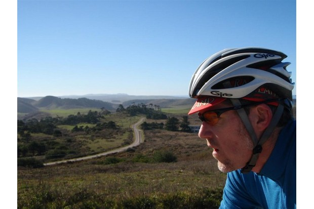 The author enjoying a Marin County ride near Point Reyes, California.
